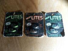 "(3) New Packages Bartness Ice Jigs ""Neon Glow"" Sz 8 & 10 Glow Red & Green 3/20"