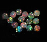 3.5 MM NATURAL AAA ETHIOPIAN FIRE OPAL CABOCHON'S CALIBRATED PLAY OF COLOR