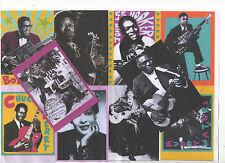 BLUES. 10 POSTCARDS B.B. King, Robert Johnson, Muddy Waters, Bo Diddley.