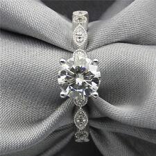 Certified 2.30Ct White Round Cut Diamond Engagement Wedding Ring 14K White Gold