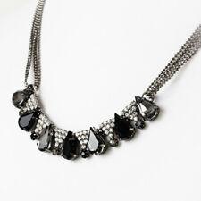 Riches of Bellagio Black Diamond Rhinestone Necklace      APNK5109
