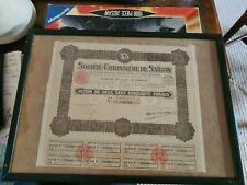 More details for societe cotonniere de saigon paris framed bamboo picture photo stock certificate