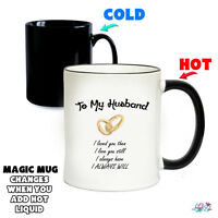 My Husband Magic Mug - Colour Changing - Wedding Anniversary Gift - Love - Mugs