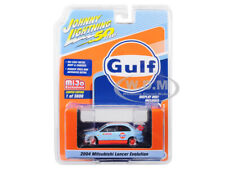 "2004 MITSUBISHI LANCER EVO #74 ""GULF"" 1/64 DIECAST CAR JOHNNY LIGHTNING JLCP7203"
