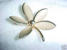 B14- VINTAGE FLOWER  PIN BACK BROOCH  #655  SIGNED #655