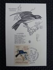 ARGENTINA MK 1964 BIRDS VÖGEL MAXIMUMKARTE CARTE MAXIMUM CARD MC CM c1850