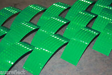 T-6507 GREEN Reflective Tape - Reflective Strips - HiVis Tape - 20cm Strips