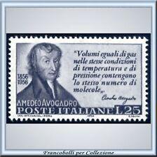 1956 Italia Repubblica Avogadro L. 25 grigio n. 802 **