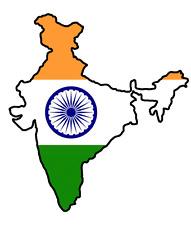 Auto Aufkleber Indien 11x10 cm India konturg. Decal Vinyl Sticker die-cut