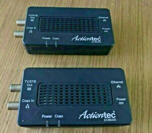 Actiontec ECB6200K02 MoCA 2.0 Ethernet to Coax Adapter 2 Pieces