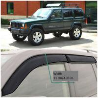 JE10584 Window Visors Guard Vent Wide Deflectors For Jeep Cherokee XJ 1984-2001