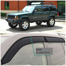JE10584 Window Visors Guard Vent Wide Deflectors For Jeep Cherokee XJ 1984-2001