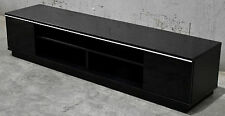 TV Stand Entertainment Unit 2000MM Cabinet Plasma LCD LED Black.