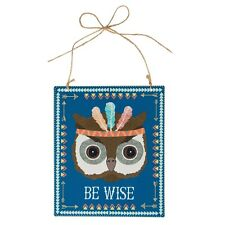 Sass & Belle Animal Adventure Hanging Plaque Sign Home Decoration Sentiment Gift Be Wise Owl