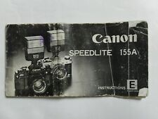 Canon Speedlite 155A instruction manual user guide 1979