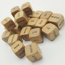 Scrabble Sentence Cube No. 96 Replacement Set Of 21 Word Cubes 1971 Wooden
