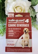 8 in1 Safe-Guard 4 Canine DeWormer for Large Dogs 3 day treatment Treats 40 lbs