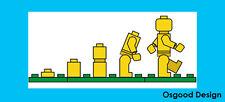 Lego Evolución Pegatina de vinilo coche de parachoques Gracioso van trabajo Herramienta Caja Niños A057