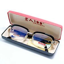 Anti-fatigue Reading Glasses Semi Rimless Metal Presbyopic +1.00- +4.00