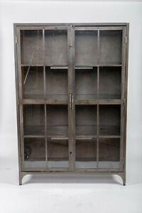 "Metal Display Cabinet with 3 shelves 48""W x 19 ¾""D x 71 ½""H, 47 ½"" x 18"" shelf"
