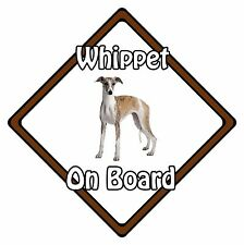 Non Personalised Dog On Board Car Safety Sign - Whippet On Board