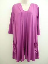 Size Small Antthony Designs 3/4 Sleeve Tunic Waistcoat Two Piece Set Orchid