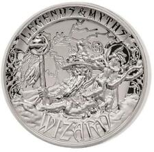 2 Unzen Silber Double High Relief  Myths & Legends Wizard Zauberer 5 Dollar 999,