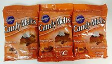 3X Wilton Pumpkin Spice Flavor Candy Melts Limited Edition, Candy Mold, Cake Pop
