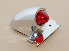 Chrome Sparto Retro Style Tail Brake Light Lamp For Harley Bobber Chopper Custom