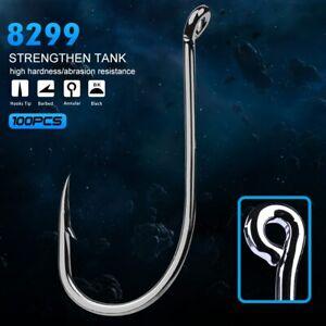 100pc Fishing Hook Octopus HC-72A High-carbon Steel Fishhook Saltwater Bass