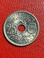 #5636 - 25 centimes .1939. Lindauer SPL/FDC - FACTURE