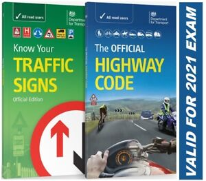 NEW Official Highway Code Book & DVSA Know Your Traffic Signs Book 2021 Hw+Trfc