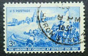 1000 used 1951 3c Cadillac Landing Michigan Fort Ponchartrain du Detroit River