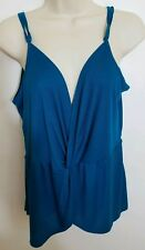 EXPRESS ONE ELEVEN Womens Small Teal Empire Waist V-neck Tank Top Cami Blouse B7