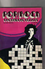 Pop/Rock Crossword Puzzles music book with pictures