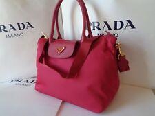 PRADA BORSA a Mano Tessuto Saffiano Ibisco (pink) Satchel 1ba106 Dustbag 6532a80840