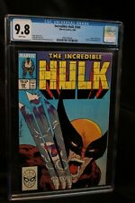 INCREDIBLE HULK #340 CGC 9.8 HULK VS WOLVERINE CLASSIC COVER