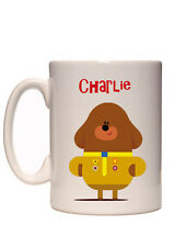 Personalised Kids Hey Duggee Your Name Picture Mug  /  Dishwasher Safe