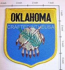 Oklahoma State Flag Shield Embroidered Patch Sew Iron On Biker Vest Applique New
