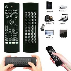 Neu 2.4 G Wireless Air Fly Mouse Fernbedienung für Smart TV Box Android PC DE