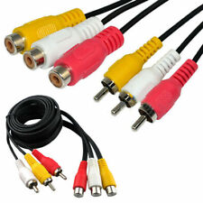 RCA Audio Video AV DVD Audio Extension Cable Male to Female 10m Triple 3 x RC...