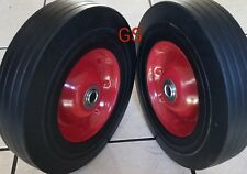 "(2) 10"" Solid Tires Wheels Rubber Dolly Handtruck Cart No Flat Free Shipping!"