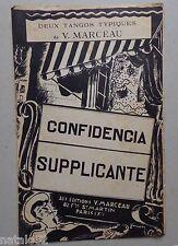 partition CONFIDENCIA - SUPPLICANTE - accordéon orchestre - V. MARCEAU