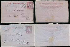 France 1890 Paris Tube Post 60c Envelopes Pneumatiques.2 Items