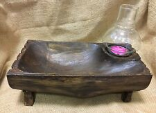 Fair Trade Teak Root Tea Light Holder / Key Tray with Lantern - 70079-62