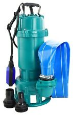 HEAVY DUTY SUBMERSIBLE DIRTY WATER PUMP FLOOD POND WASTE CESSPIT SUMP SEWAGE