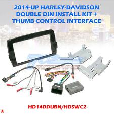 2014-19 HARLEY RADIO INSTALL ADAPTER W THUMB CONTROL DASH KIT STEREO CD DAVIDSON