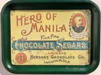 1974 Hero of Manila Chocolate Segars Hershey Chocolate Tin Tray George Dewey