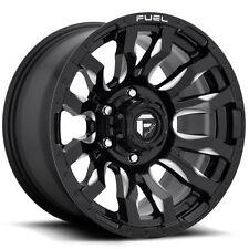 "Fuel D673 Blitz 16x8 5x5.5"" +1mm Black/Milled Wheel Rim 16"" Inch"