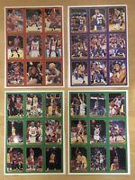 Michael Jordan Magic Johnson Chicago Bulls 36 Cards Un Cut Sheet 1990 Tuff Stuff